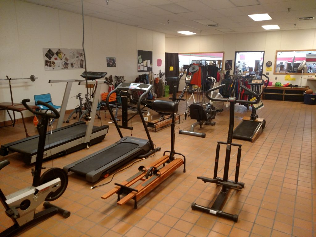 Interior of Revive Sports Thrift Shop