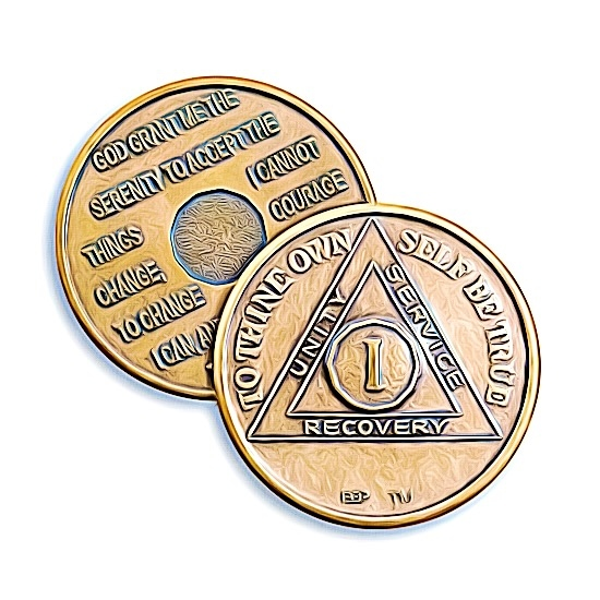 aa sobriety coins